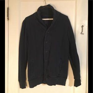 Men's Small Gap Button Cardigan